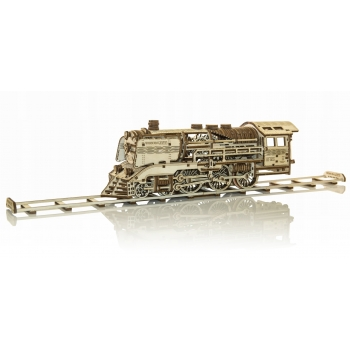 Mechanical 3D puzzle WOODEN EXPRESS with Rails